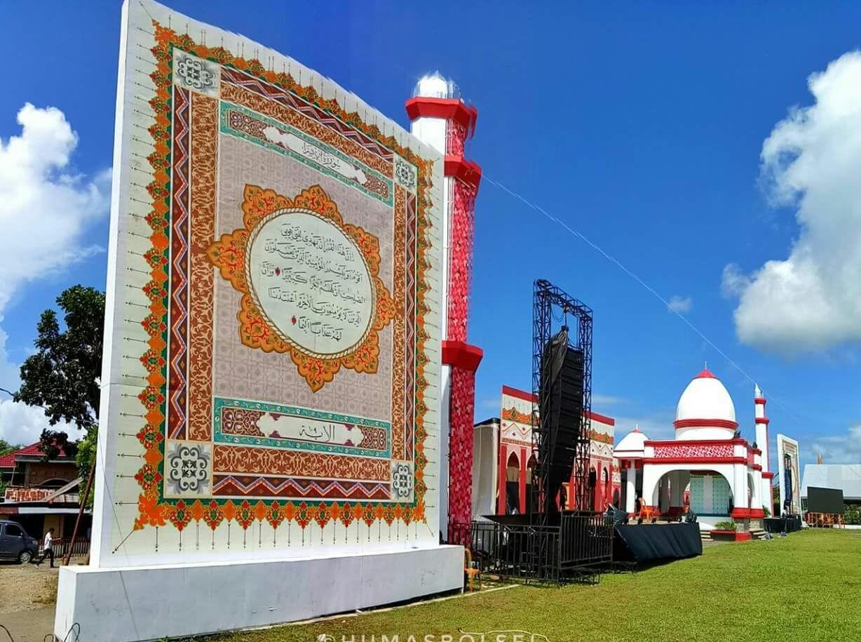 Hadirkan Kaligrafi Raksasa, Pemkab Bolsel Raih Prestasi Nusantara