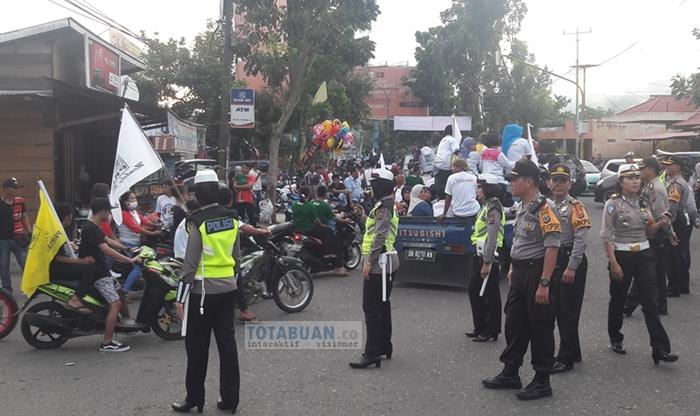 Lima Ratus Aparat dari TNI-Polri Jaga Kampanye TB-NK