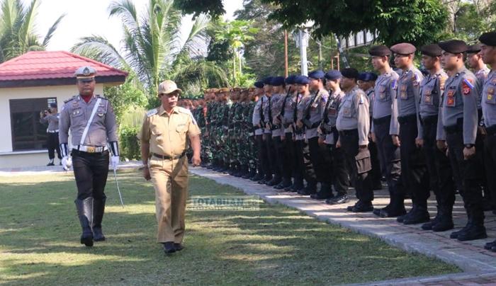 Bupati Boltim Irup Gelar Pasukan Operasi Ketupat Samrat 2018