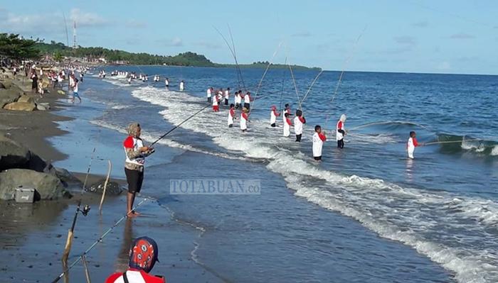 Peringati HUT Kabupaten Bolsel, Ratusan Pemancing Ambil Bagian di Festival Paka Paka Ombak