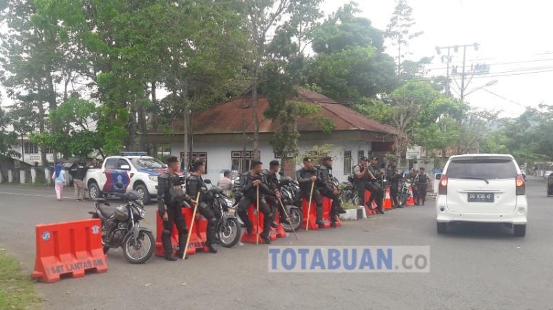 Polres Bolmong Kerahkan 350 Personil Jaga Pleno