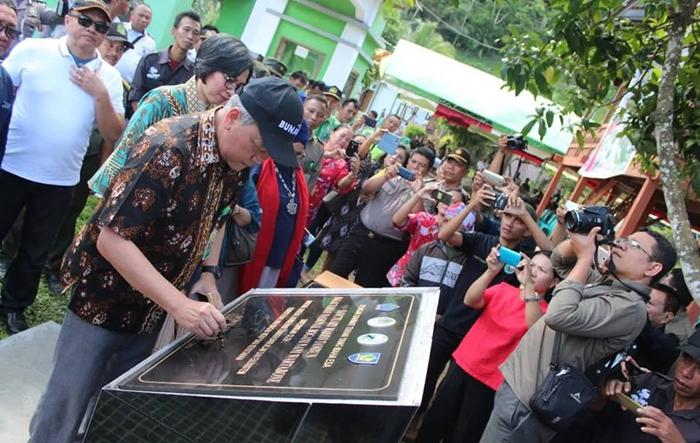 Bupati Bolmong Sampaikan Terima Kasih Diresmikannya Sanctuary Maleo Tambun