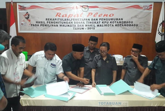 KPU Akan Segera Tetapkan Pasangan TB-NK Pemenang PIlkada Kotamobagu