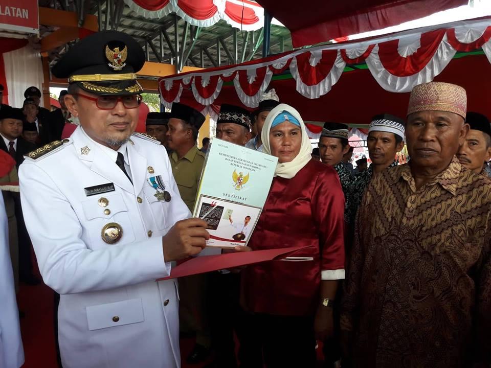 Bupati Bolsel: Sertifikat Gratis ini Program Pak Jokowi, Bukan atas Nama Caleg