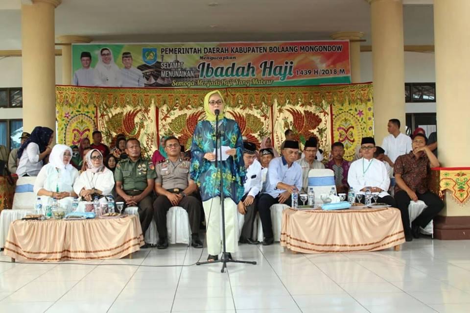 Bupati Bolmong Lepas Jamaah Calon Haji