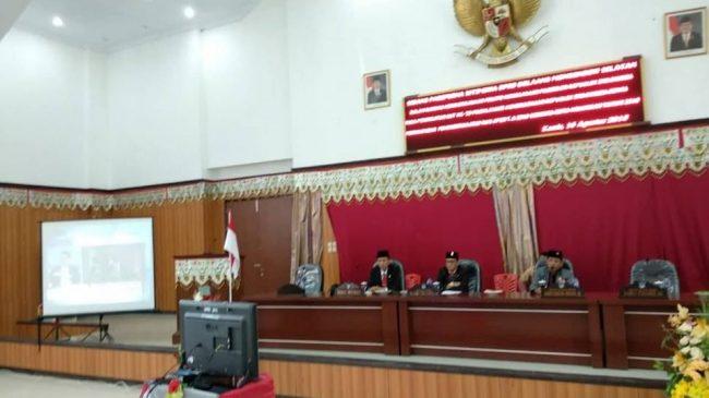 Pemkab dan DPRD Bolsel Paripurna Istimewah Mendengarkan Pidato Presiden
