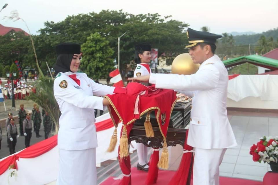 Wabup Bolmong Jadi Irup Upacara Penurunan Bendera