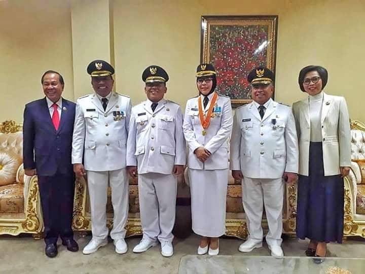 Bupati Bolmong Menghadiri Pelantikan Lima Kepala Daerah