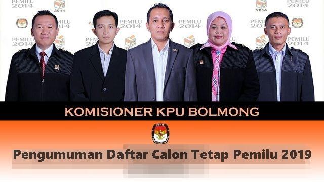 KPU Bolmong Resmi Umumkan Daftar Calon Tetap Pileg 2019