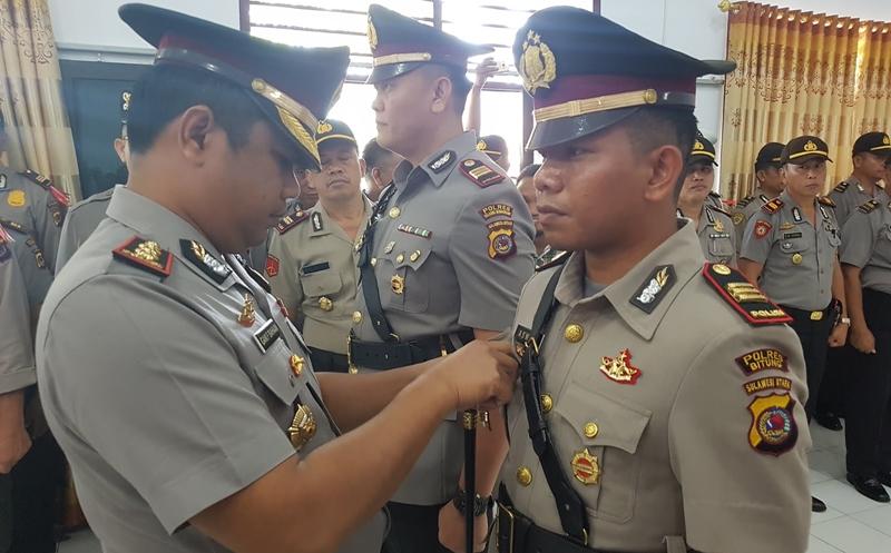 Kapolres Bolmong Pimpin Serahterima Jabatan Kasat Reskrim dan Dua Kapolsek