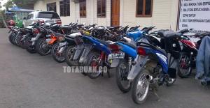 Barang bukti kendaraan motor yang diamankan selama operas | foto totabuan.co