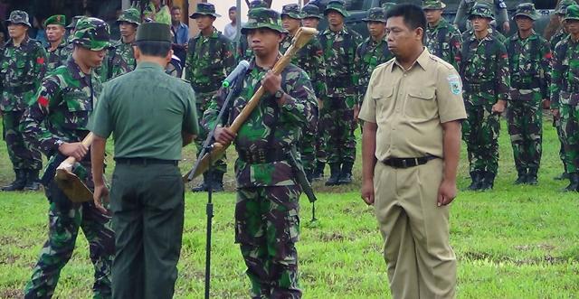 Pemkab Gandeng  TNI Bangun Infrastruktur