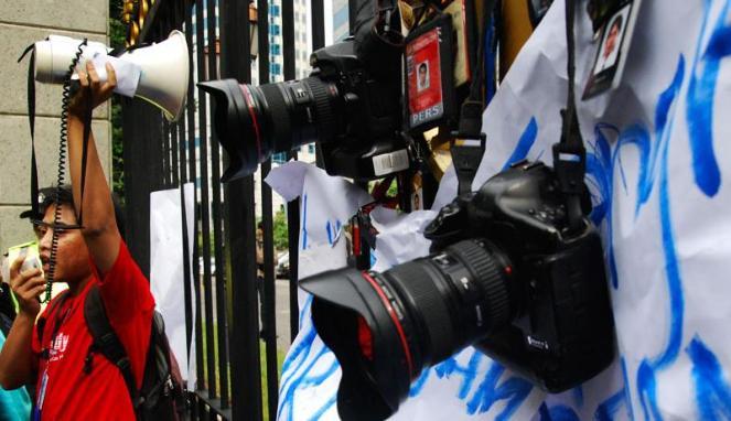 Ini Sikap Para Wartawan Terhadap Larangan Meliput Di Polres Bolmong