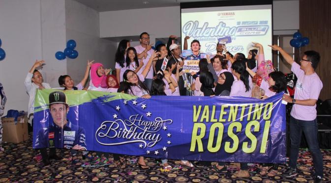 Rossi Dapat Kado Ultah Spesial dari Fans Indonesia