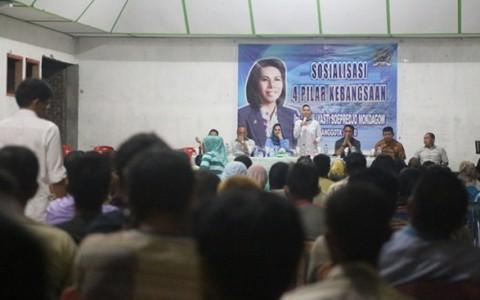 Suasana pertemuan di BPU Buyat