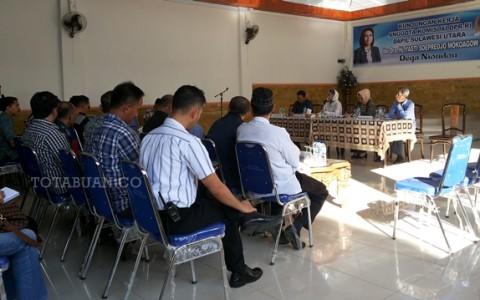 Tampak pertemuan Anggota DPR RI Yasti Soeprejo Mokoagow dengan beberapa pimpinan SKPD se Bolmong Raya
