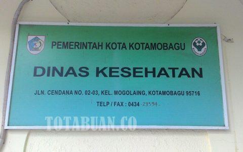 Kantor Dinas Kesehatan Kota Kotamobagu.