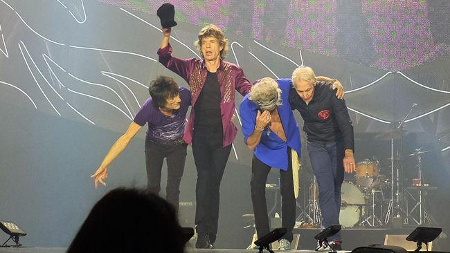 Usai Penembakan, Personel Rolling Stones Dikawal Ketat