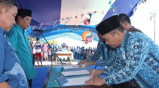 tanda tangan pakta integrasi