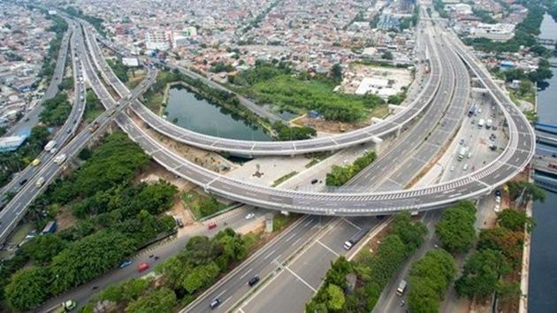 Penampakan Terbaru Jalan Tol Akses Tanjung Priok
