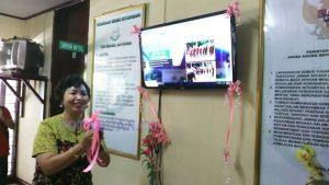 Kepala Kejaksaan Negeri Kotamobagu Daslin SH MM saat Launching Website