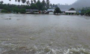 Kondisi banjir di Desa Bolangat