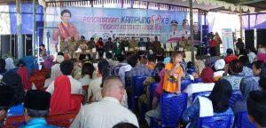Kunjungan Menteri Pemeberdayaan Perempuan dan Perlindungan Anak Yohana Yambise di Kotamobagu waktu lalu
