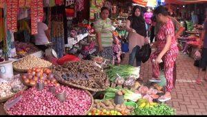 Pedagang Bumbu dapur di pasar Serasi Kotamobagu