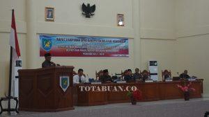 Sidang Paripurna Pengumuman masa berakhir jabatan Bupati dan Wakil Bupati Bolmong