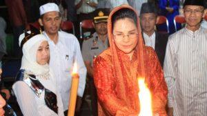Tampak Wali Kota Tatong Bara saat menghadiri kegiatan keagamaan  waktu lalu (foto dok)