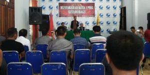 Wakil Wali Kota Kotamobagu Jainuddin Damopolii saat hadir dalam Musyawarah PBSI