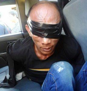 Yanto Kambing saat dibekuk tim Maleo Polres Bolmong
