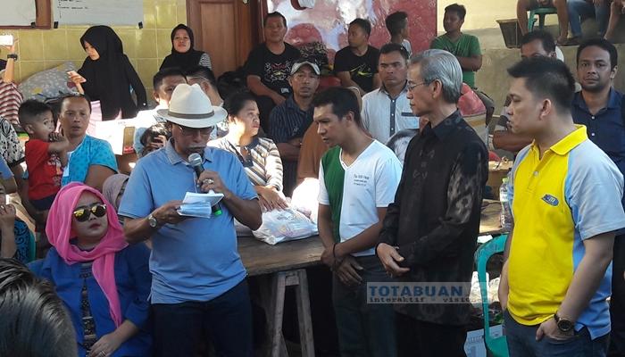 Bupati Boltim dan 15 SKPD Antar Bantuan Korban Kebakaran di Kotamobagu