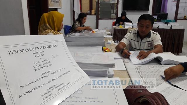 KPU Kotamobagu Teliti Berkas Dukungan Calon Independen