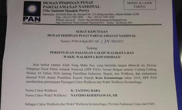 Pernyataan Sehan Landjar Soal SK DPP PAN ke Tatong Bara Benar