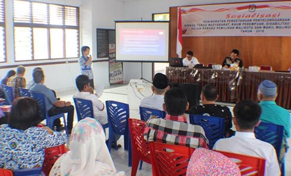 KPU Kotamobagu Pastikan Hak Penyandang Disabilitas di PIlkada