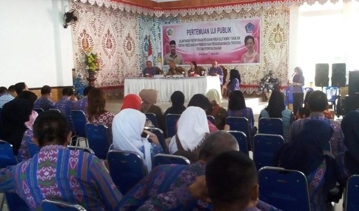 Pemkot Kotamobagu Uji Publik Perda Tentang Trafficking