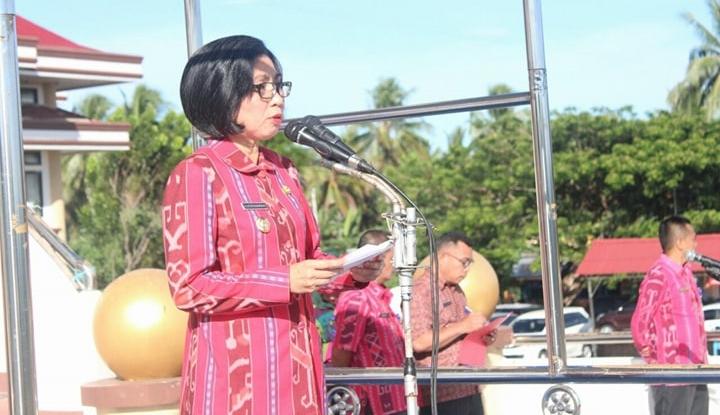 Bupati Bolmong Pimpin Apel Perdana Masuk Kantor