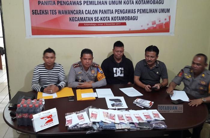 Satgas OTT Polres Bolmong Amankan Sejumlah Barang Diduga Untuk Money Politik