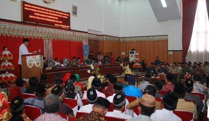 Bupati H2M Sampaikan Pengunduran Diri Lewat Rapat Paripurna DPRD