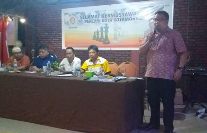 Nasrun Koto Dipilih Ketua Percasi Kota Kotamobagu Periode 2018-2022