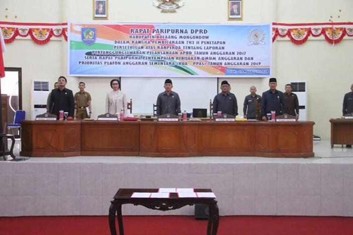 Bupati Bolmong SampaikanGambaran Kebijakan Umum APBD Tahun 2019