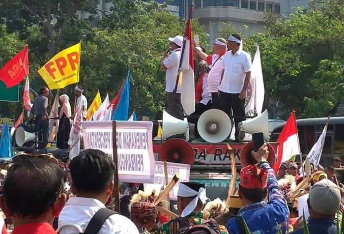 Bupati Boltim Sehan Landjar Pimpin Demo di Istana Tuntut DOB