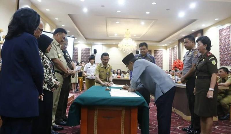 Bupati Kabupaten Bolmong Timur Tandatangani PKS APH dan APIP