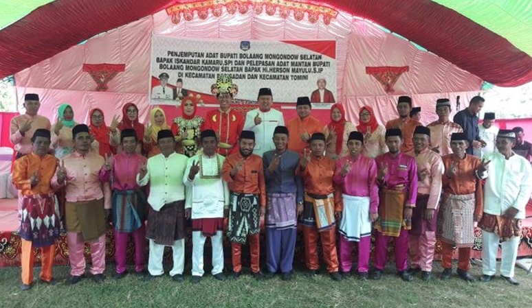 Tokoh Adat Gorontalo Bolsel Kompak Dukung Herson Mayulu ke DPR RI
