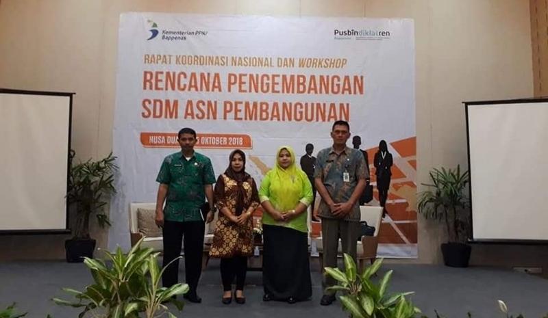 BKPP dan Bappeda Bolmong Hadiri Rakornas Pengembangan SDM ASN di Bali
