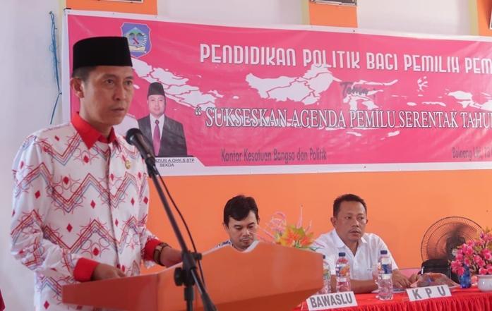 Buka Penyuluhan Politik, Iskandar Ingatkan Beberapa Hal Kepada Pemilih Pemula