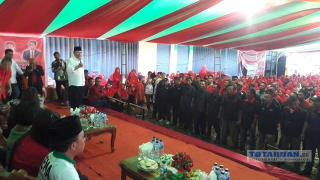 Relawan Jokowi-Ma'ruf Amin Kabupaten Bolmong Dilantik