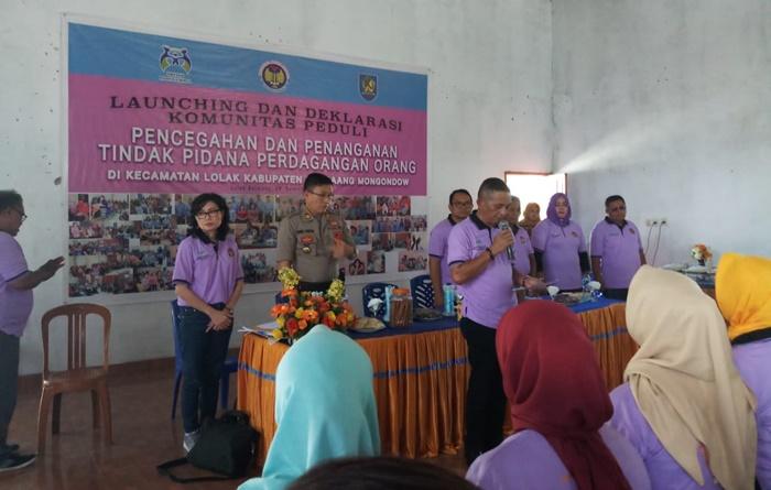 Bupati Bolmong Kukuhkan PP-TPPO di Lima Desa Kecamatan Lolak