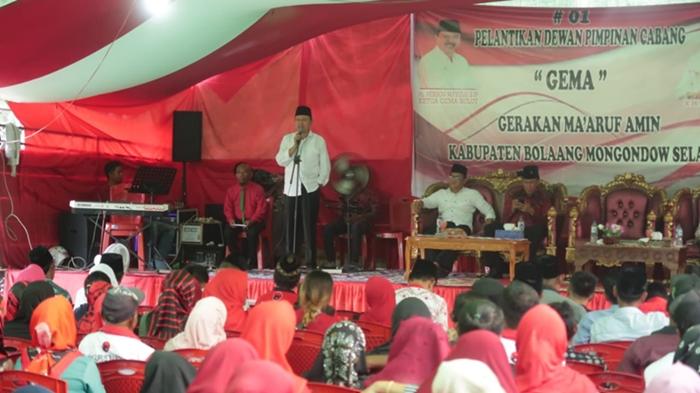 Ribuan Relawan Jokowi-Amin dan Pengurus GEMA Kabupaten Bolsel Dilantik